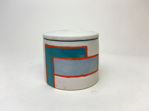 Small Stash Jar, Color Blocked