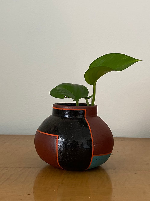 Small Color Blocked Vase