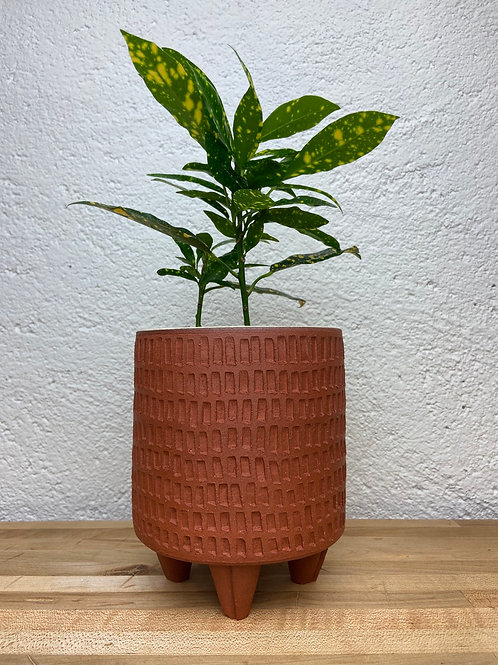 Carved Red planter