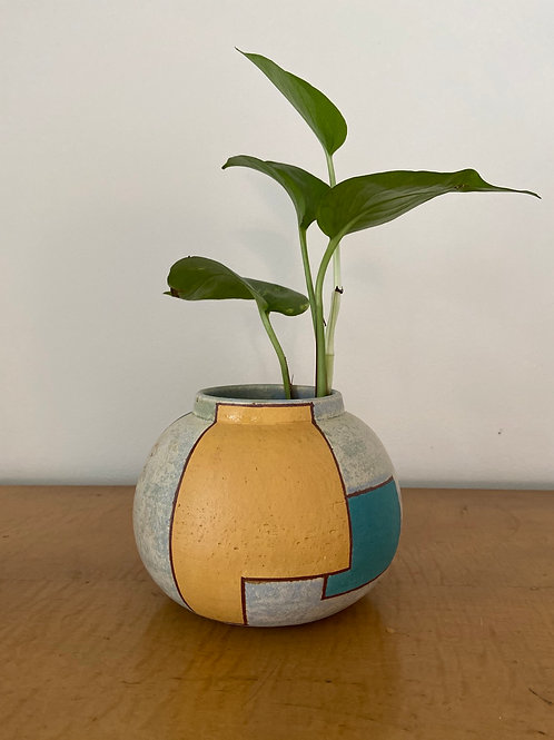 Color Blocked Vase