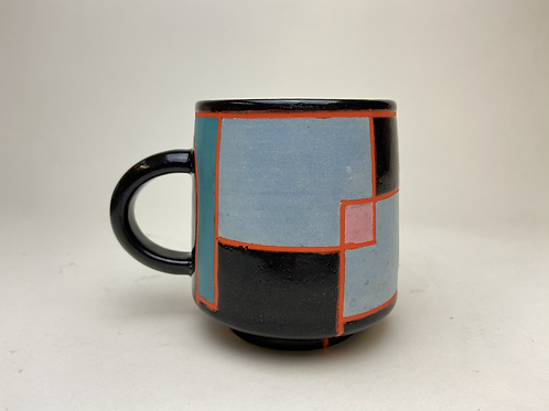 Crashing Waves of the Cubist Kind, Coffee Mug