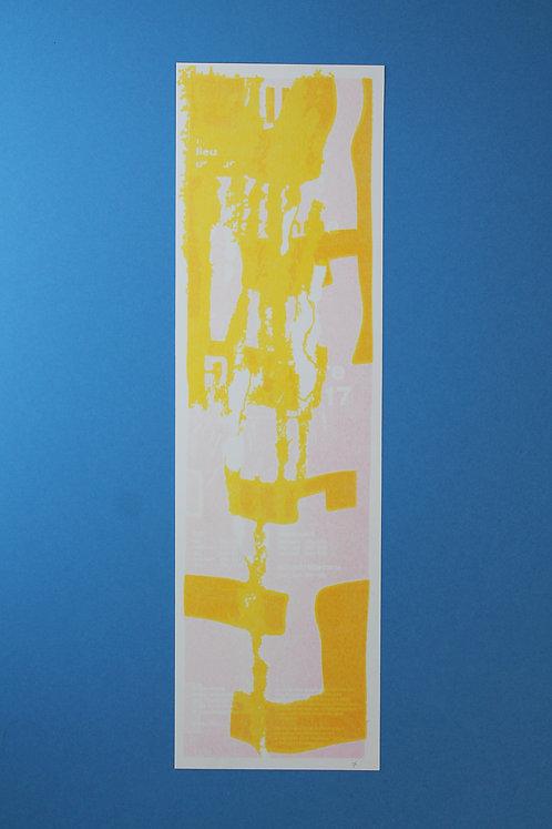 Affiche Flyer Jaune & Rose Pâle