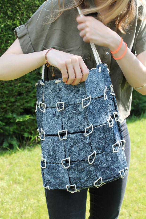 Sac de dalles de jeans recyclés