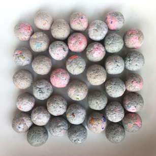 Perles de papiers recyclés
