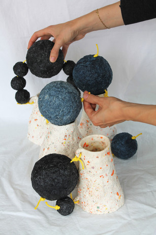 Famille de vases la lune et la montagne