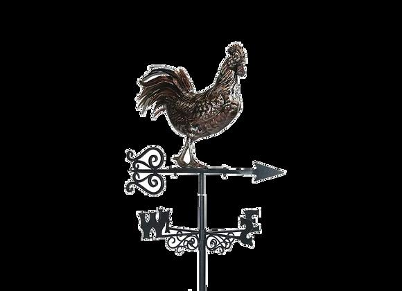 Girouette coq acier inoxidable (grande)