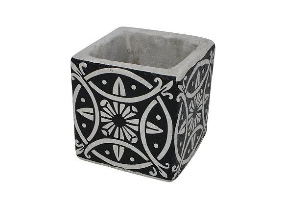 Vase déco en céramique noir 10 cm