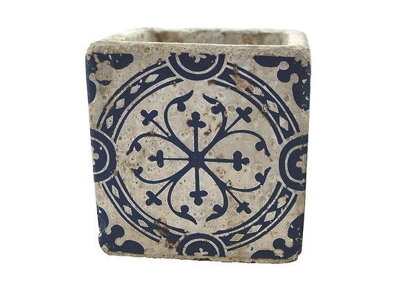 Vase déco en céramique bleu 10 cm