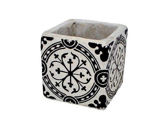 Vase déco en céramique noir 8,5 cm