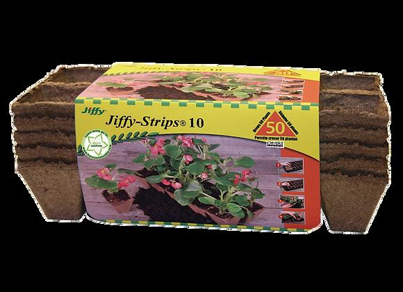 Bande de pots en tourbe Jiffy Strips - 50 cellules