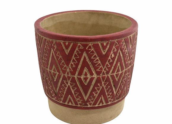 Pot tribal en céramique rouge