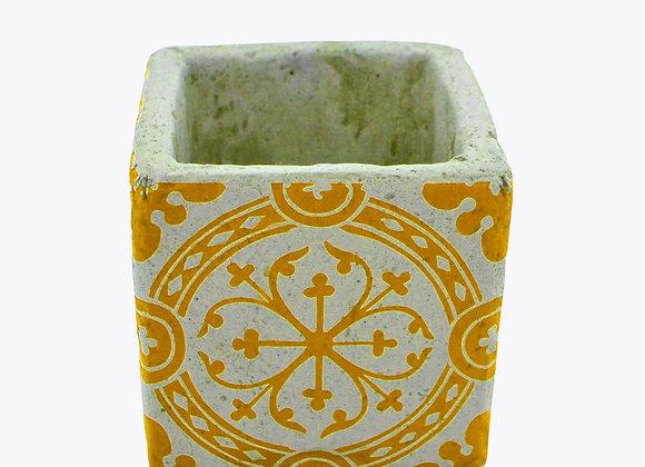 Vase déco en céramique jaune 8.5 cm(2)