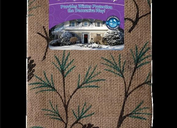 Toile de jute décorative pour l'hiver