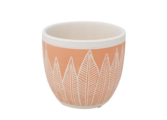 Pot en céramique dicova corail