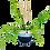Thumbnail: Cache-pot suspendu blanc et bleu