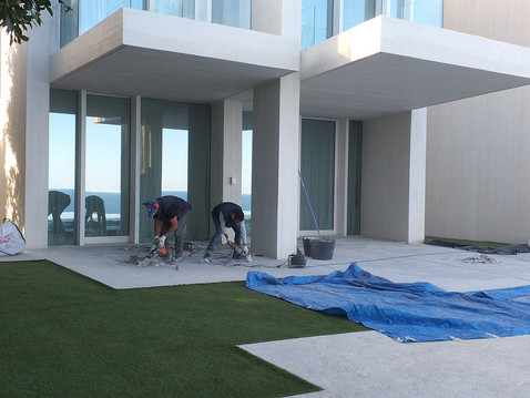 Outside renovation