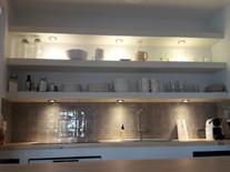Construction d'une cuisine en microciment