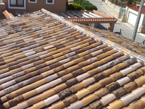 Construction of traditional roof