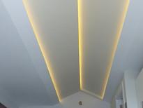 Hidden led ceiling construction
