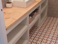 Microcement washbasin cabinet