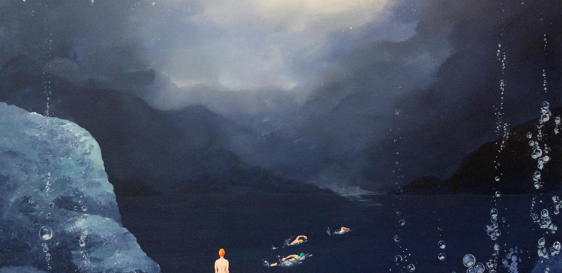 Nadadores a la luz 70x80cm