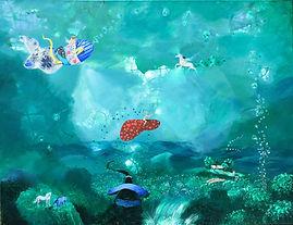serie de obras de arte cuadro pintado en crilico sobre lienzo. artista joven latinoamerica europa