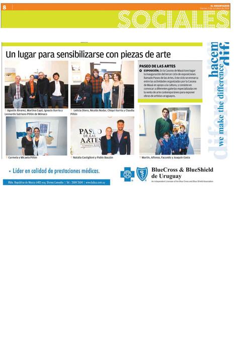 Diario El Observador, exposición Casona Mauá
