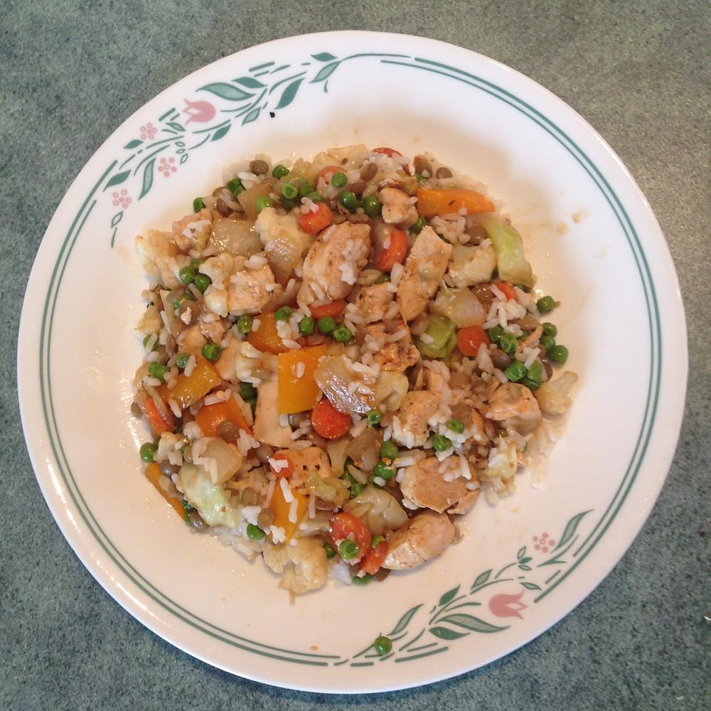 Chicken and Lentil Stir Fry
