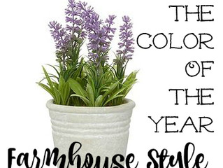 Incorporating the Color of the Year... Farmhouse Style