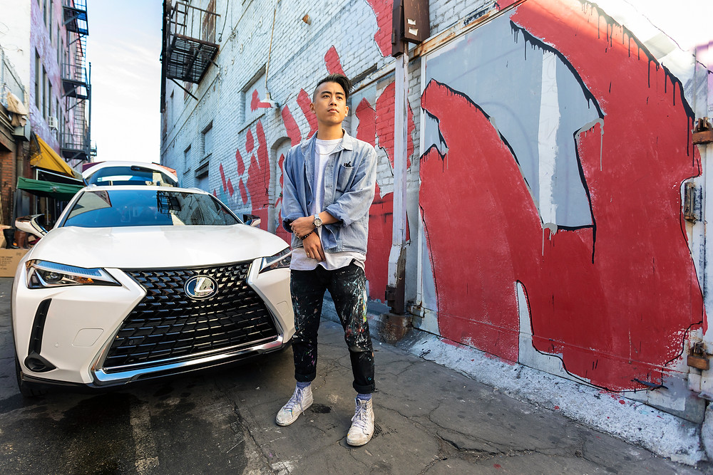 Mural in Los Angeles by Adrian Wong for Lexus