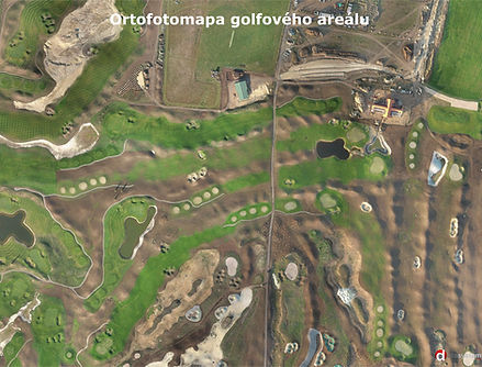 Ortofotomapa golfového hřiště