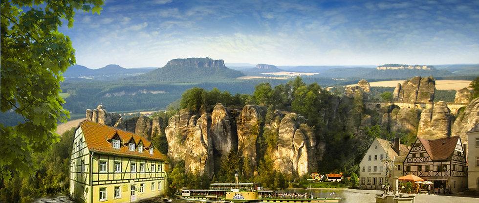 Unsere Pension liegt unmittelbar an der Elbe.Unsere Pension ist Ausgangspunkt für Wanderung auf dem Malerweg und für Radwanderungen auf dem Elberadweg.