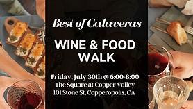 Best of Calaveras Wine & Food Walk