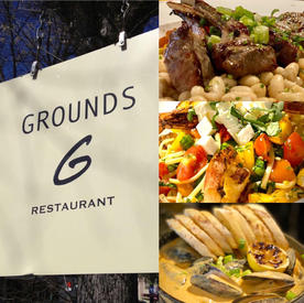 Grounds - Gift Certificate Dinner for Two $25 Starting Bid