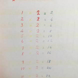page 9: 2s table #2