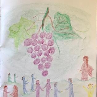 pic 2: 20 grapes & 10 children 10 children are waiting