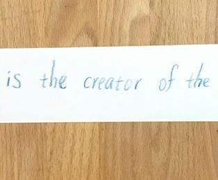 Bunjil is the creator of the world.