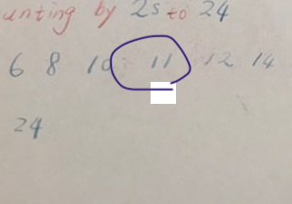 Picture 1: 11 is an odd number
