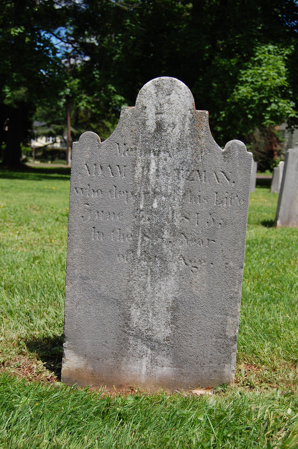 Gravestone of George Adam Brotzman, Augustus Lutheran Church Cemetery, Trappe