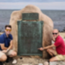 Daniel Lupia and Kyle Miller at Settlers Rock, Block Island