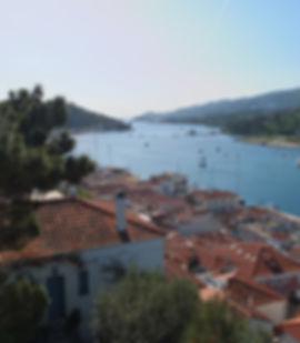 Blick auf Poros