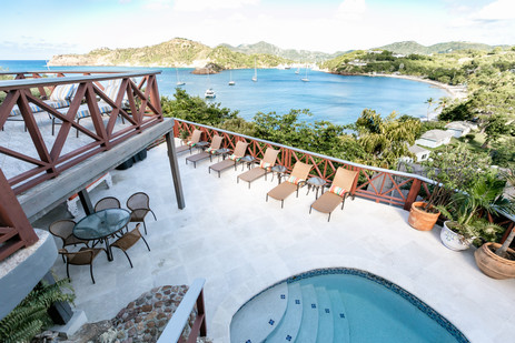 Pool view from verandah