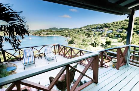 Villa master bedroom deck