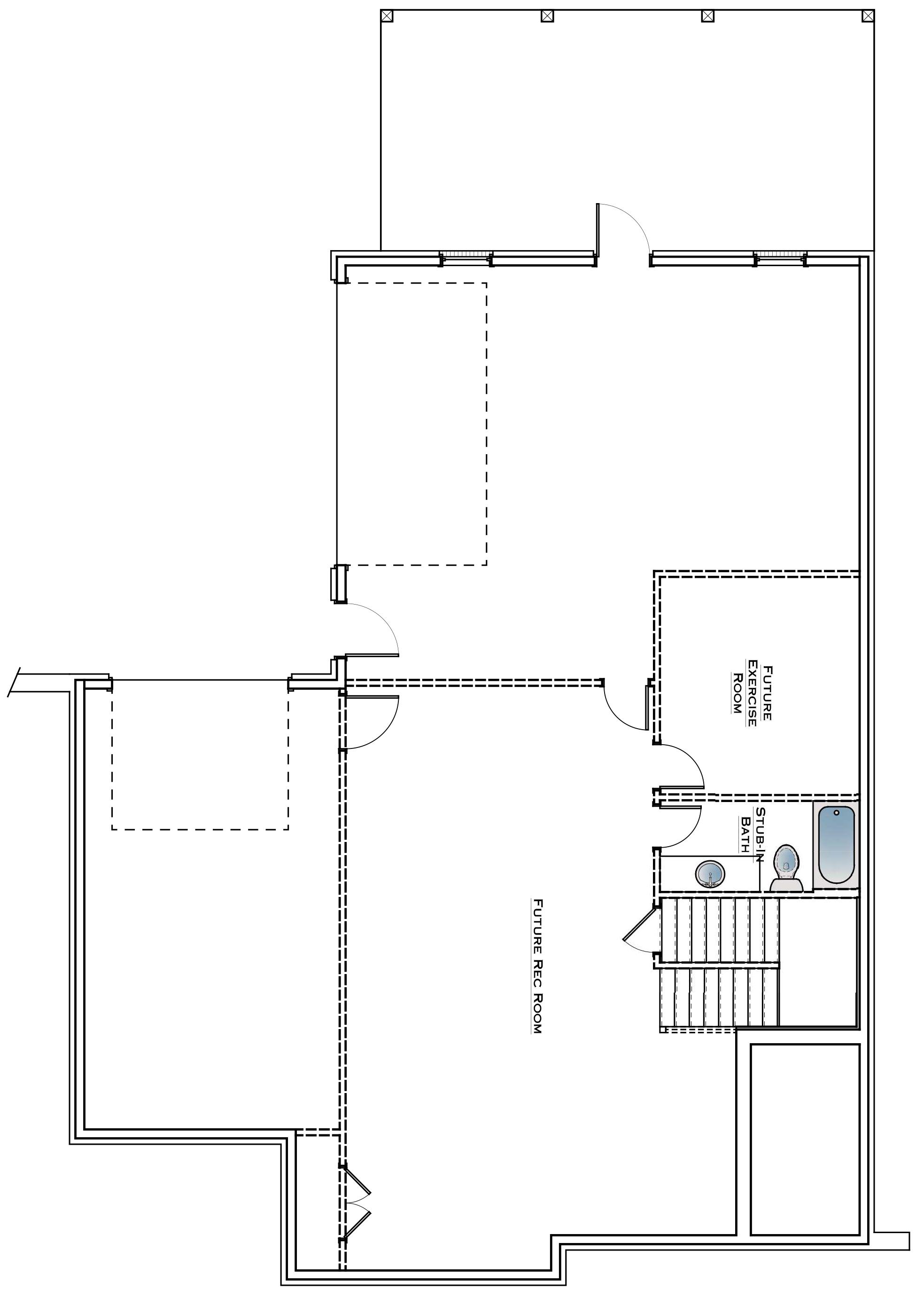 Southbend Lot 8 Basement