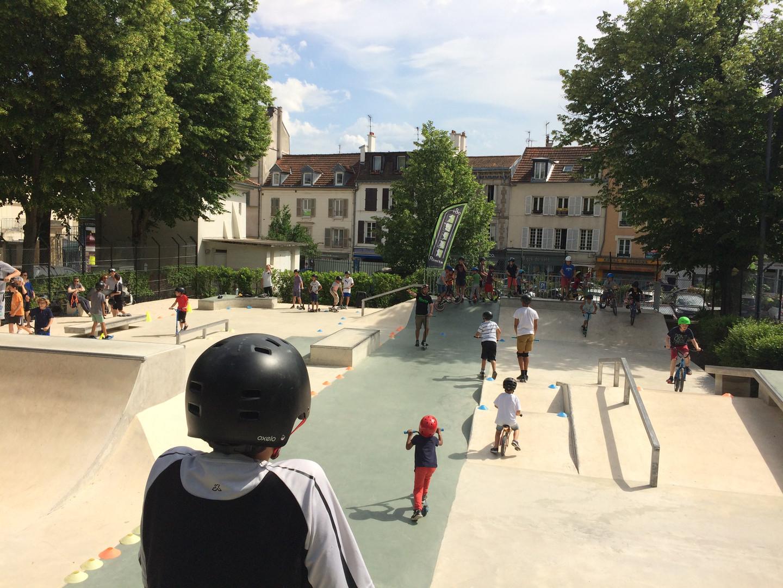 animation d'un skate park rlimite