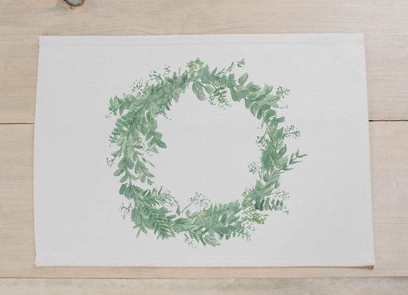 Floral Wreath Watercolor Placemat