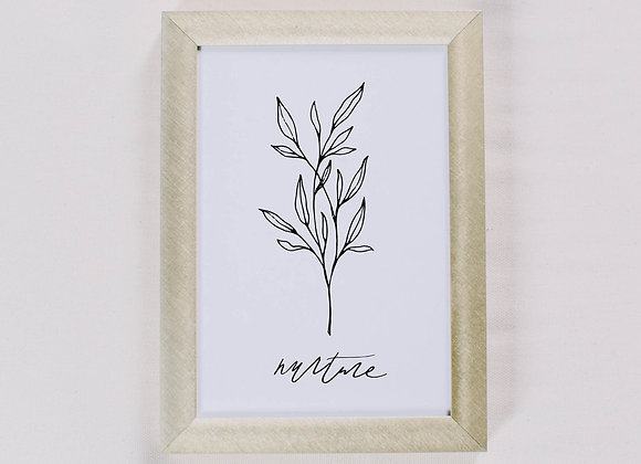 Nurture Wildflower Print