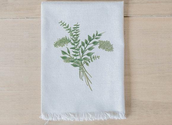 Eucalyptus Bunch Watercolor Napkin