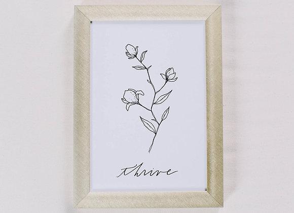Thrive Wildflower Print