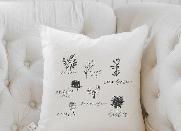 Flower Type Pillow